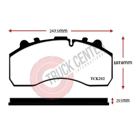TCK202 - WVA 29202 Brake Pad Set