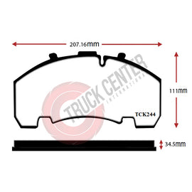 TCK244 - WVA 29244 Brake Pad Set