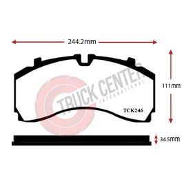 TCK246 - WVA 29246 Brake Pad Set