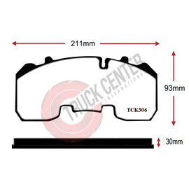 TCK306 - WVA 29306 Brake Pad Set