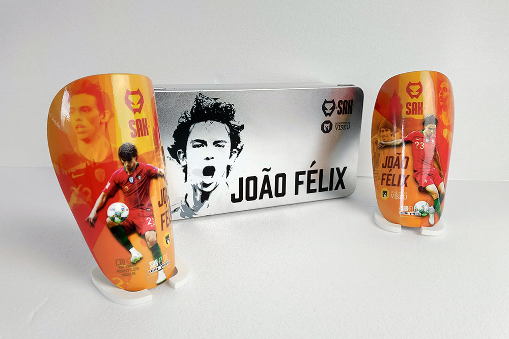 ATLÉTICO MADRID RECORD BREAKING SIGNEE JOÃO FÉLIX NEW CUSTOMISED SHIN GUARDS