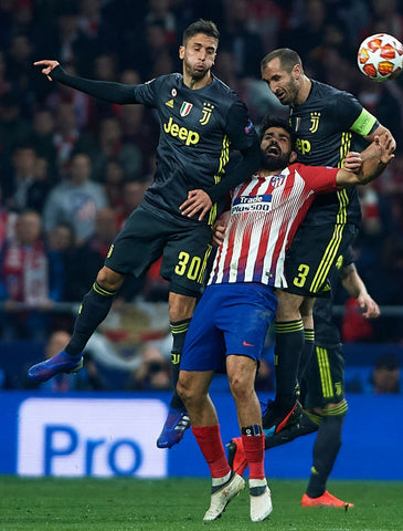 Atlético's Diego Costa wearing SAK against Juventus on Champion's League 2019/20 at Wanda Metropolitano Stadium.