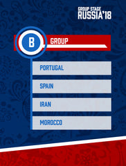 Russia World Cup 2018 - Group B