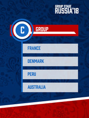 Russia World Cup 2018 - Group C
