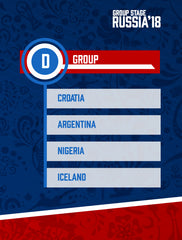 Russia World Cup 2018 - Group D
