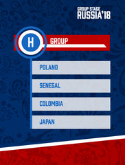 Russia World Cup 2018 - Group H