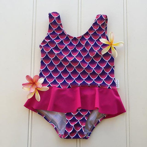 PrettyBaby by Bella Mermaid Bathers with Skirt - FreeStyle Swimwear
