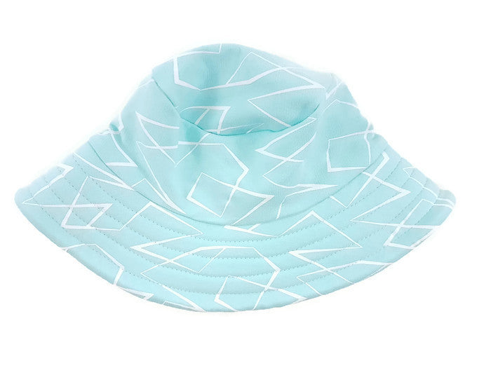 Hat Trail Blue Geo Sun Hat - FreeStyle Swimwear