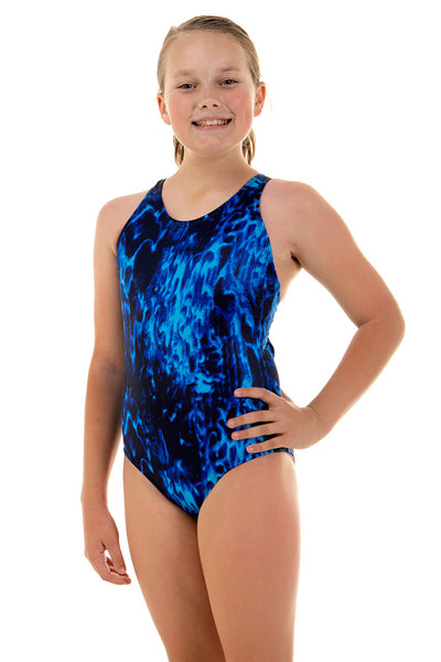Nova Swimwear Girls Aquatic Sport Back One Piece - FreeStyle Swimwear