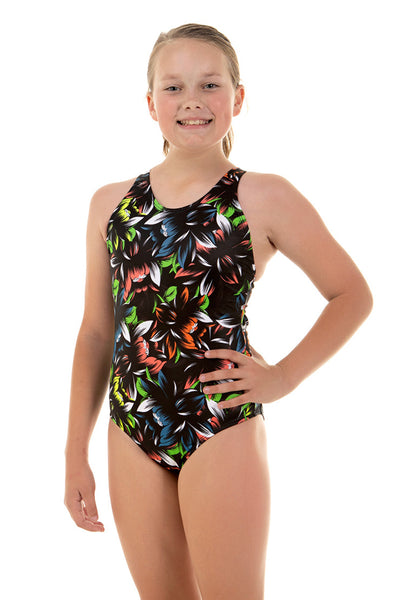 Nova Swimwear Girls Bouquet Sport Back One Piece - FreeStyle Swimwear