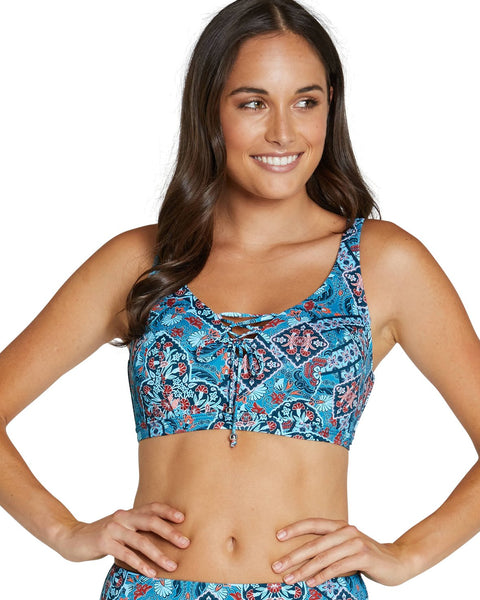 Baku Balboa E/F Lace Up Bikini Bra Top
