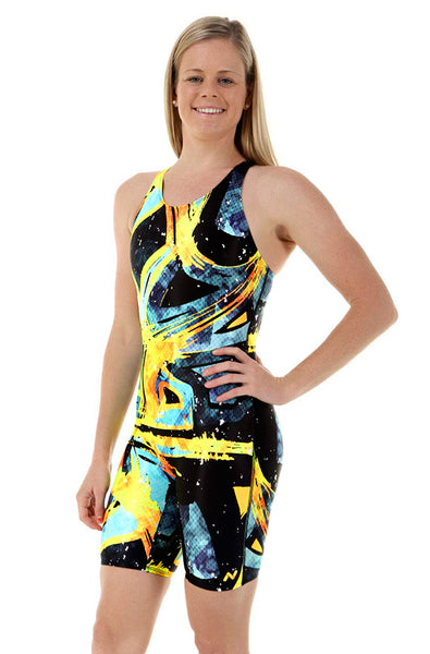 Nova Swimwear Ladies Bumblebee Knee Length One Piece - FreeStyle Swimwear