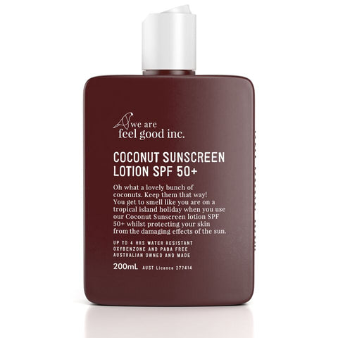 We Are Feel Good Coconut Sunscreen Lotion 50+ - FreeStyle Swimwear