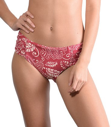 Finch Swim Temple D'Or Ruche Side Retro Bikini Pant - FreeStyle Swimwear