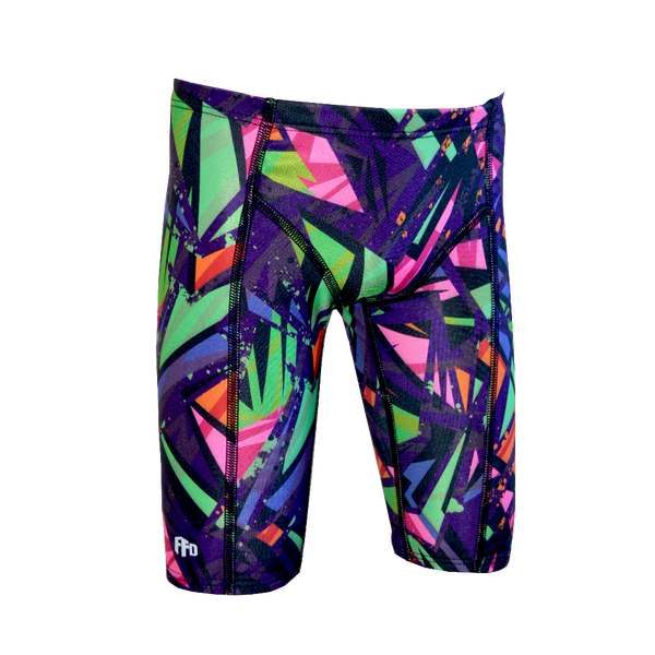 Fashion Fish Boys Fluro Darkness Knicks - FreeStyle Swimwear