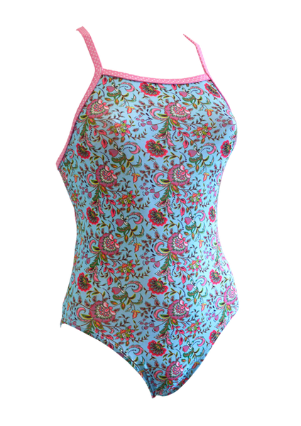 Fashion Fish Girls Holiday Bliss One Piece - FreeStyle Swimwear
