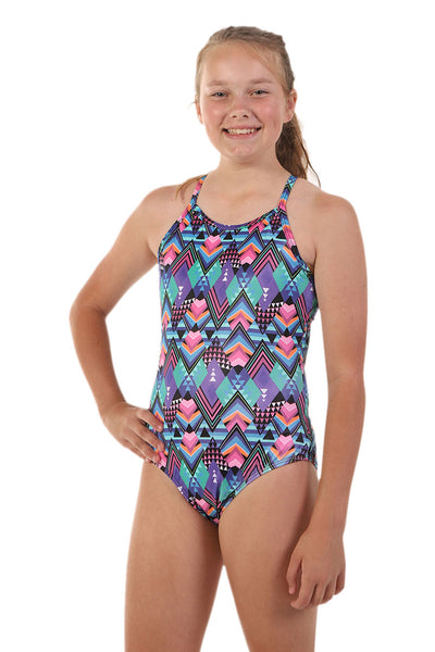 Nova Swimwear Girls Groovy Adjustable Sportique - FreeStyle Swimwear