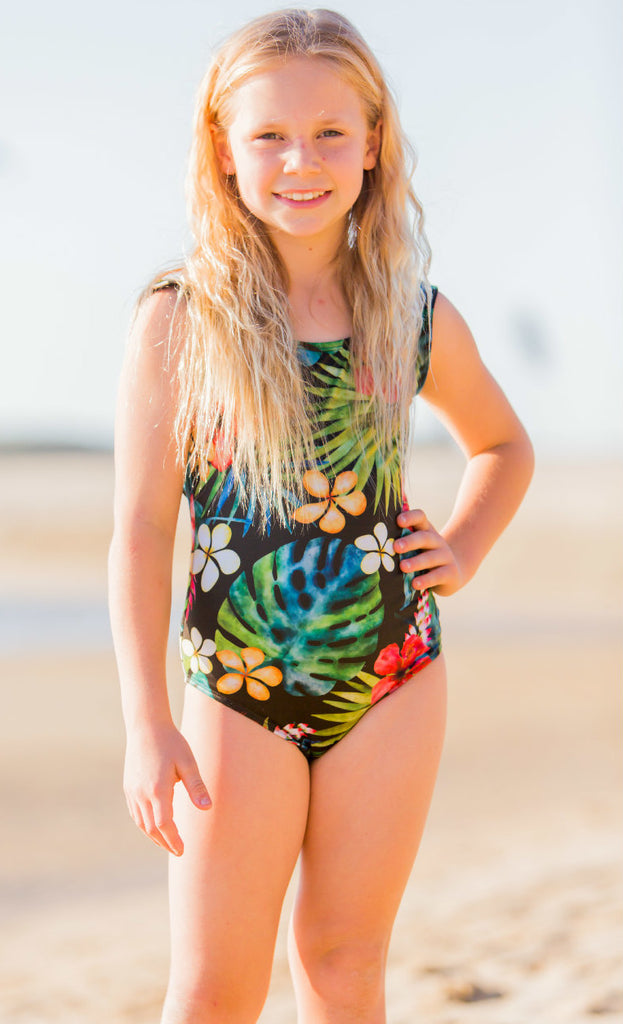 Sunhaze Girls Havana Black One Piece - FreeStyle Swimwear