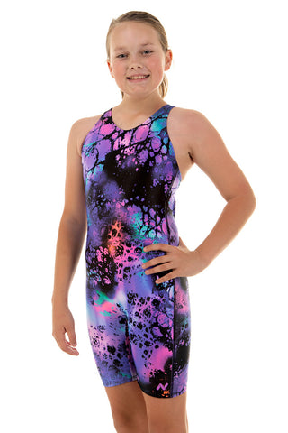 Nova Swimwear Girls Ink Knee Length Swimwear - FreeStyle Swimwear