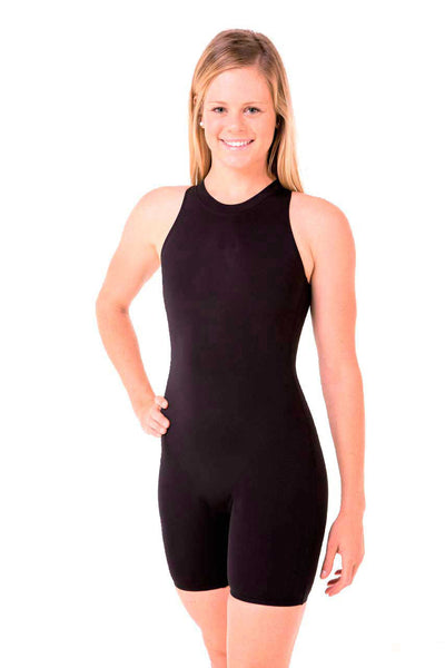Nova Swimwear Ladies Black Katzoot Knee Length One Piece - FreeStyle Swimwear