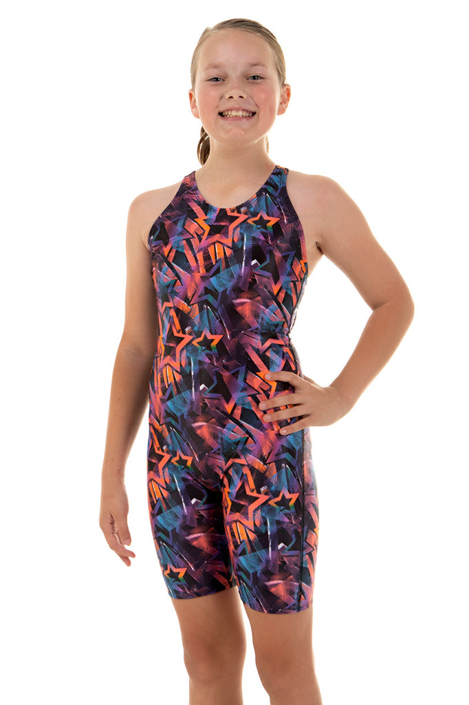 Nova Swimwear Girls Starshot Knee Length - FreeStyle Swimwear
