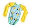 Young Squad Girls Lemon Long Sleeve Swimsuit - FreeStyle Swimwear