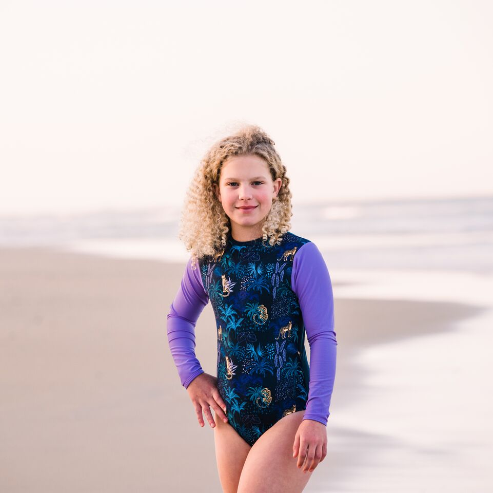 Young Squad Long Sleeve Leopards Swimsuit - FreeStyle Swimwear