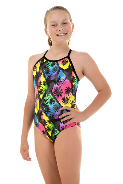 Nova Swimwear Girls Malibu Adjustable Sportique One Piece - FreeStyle Swimwear