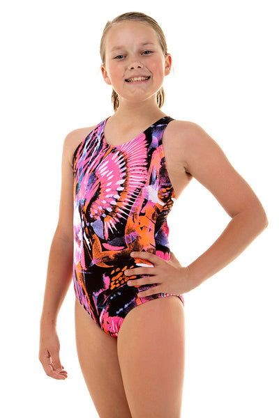 Nova Swimwear Girls Pink Jelly Sport Back One Piece - FreeStyle Swimwear