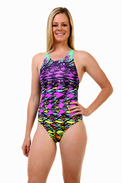 Nova Swimwear Ladies Triangle Sports Back One Piece - FreeStyle Swimwear