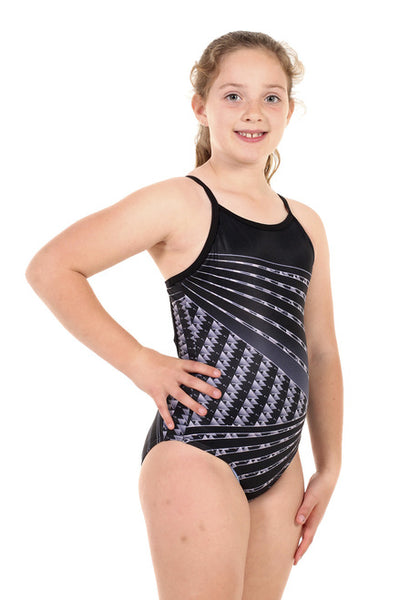 Nova Swimwear Girls Dotarrow One Piece - FreeStyle Swimwear