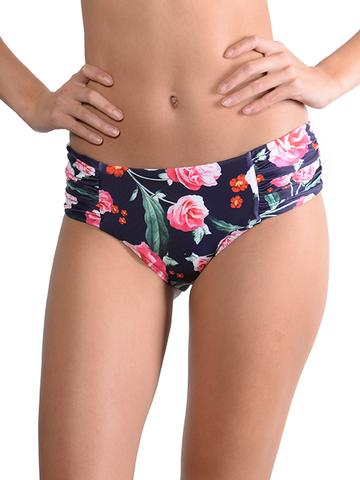 Finch Swim Summer Romance Ruche Side Retro Pant - FreeStyle Swimwear