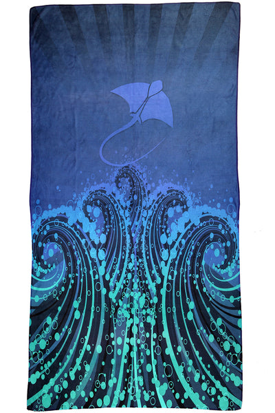 Nova Swimwear Quick Dry Micro Fibre Towel - Stingray - FreeStyle Swimwear