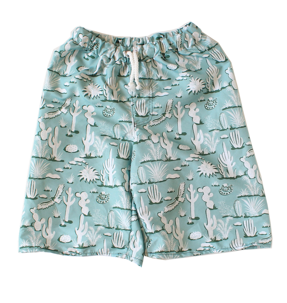 Young Squad Boys Cactus Board Shorts - FreeStyle Swimwear
