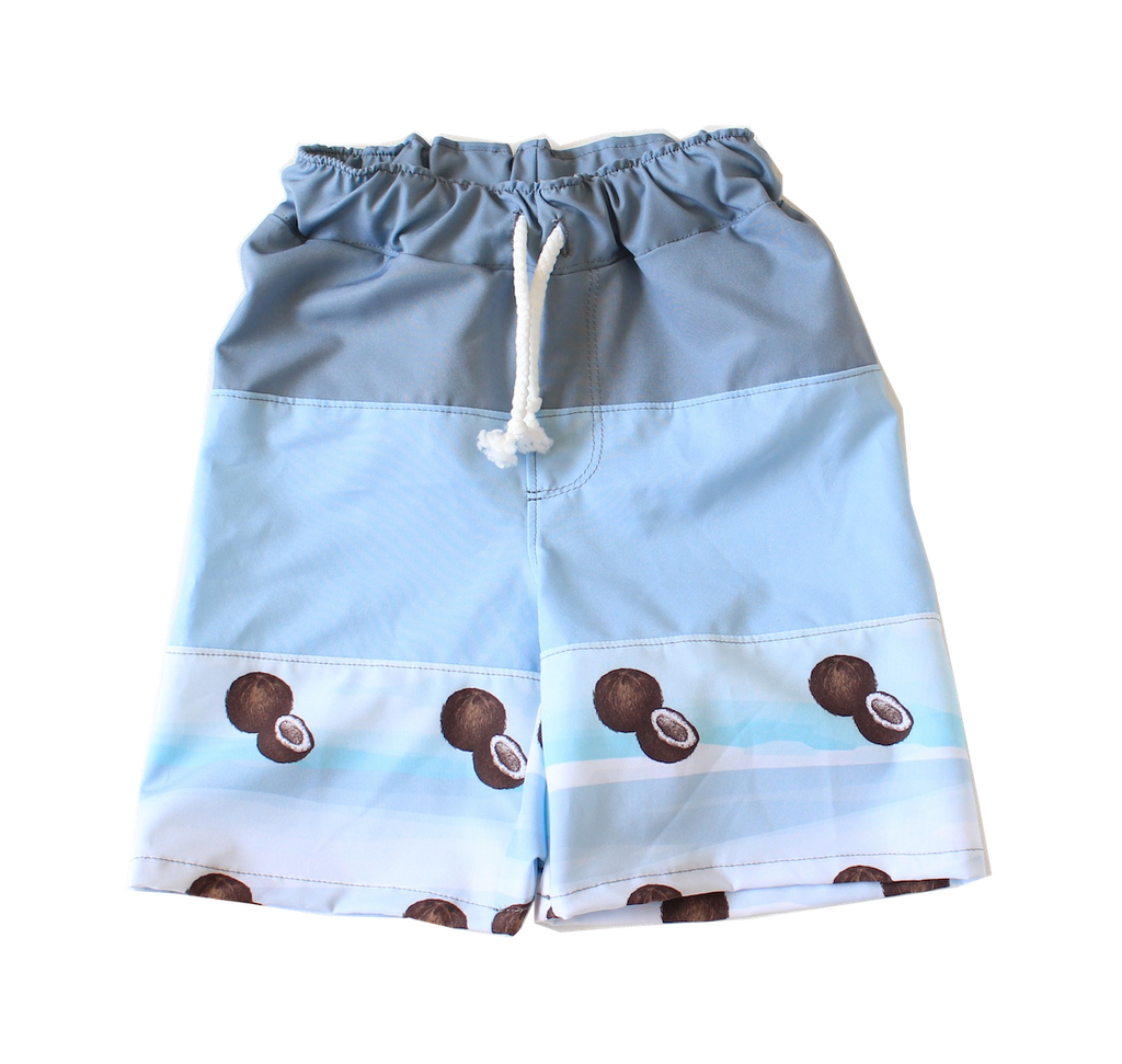 Young Squad Boys Coconut Board Shorts - FreeStyle Swimwear