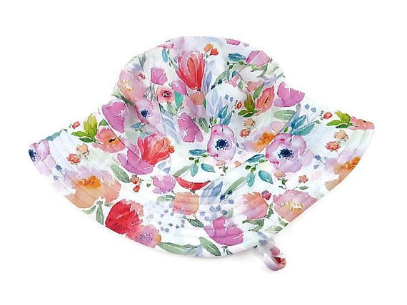 Hat Trail Floral Pastel Swim Hat - FreeStyle Swimwear
