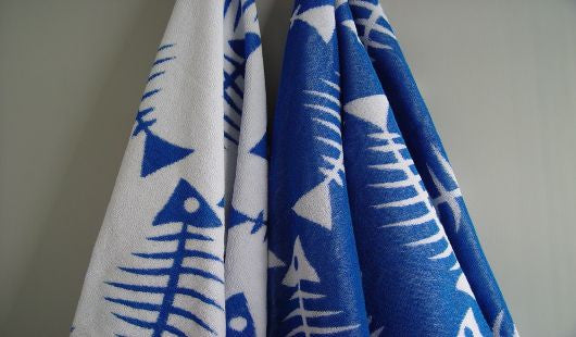 Rialto Fish Bones Beach Towel - FreeStyle Swimwear