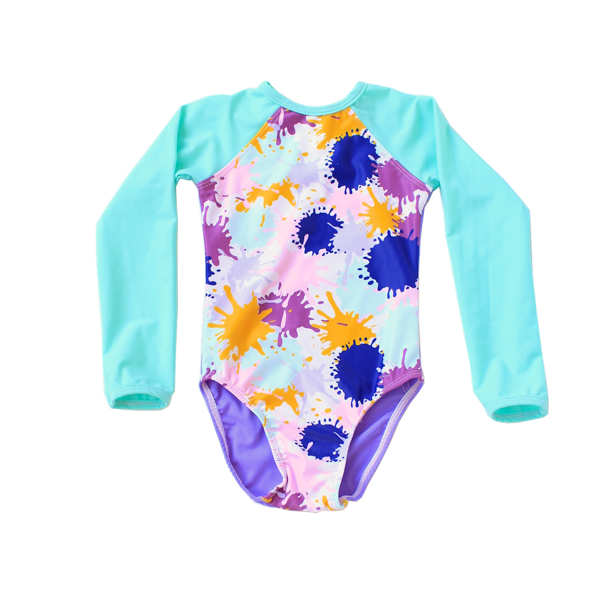 266c7775e026a Young Squad Girls Splatter Long Sleeve Swimsuit – FreeStyle Swimwear