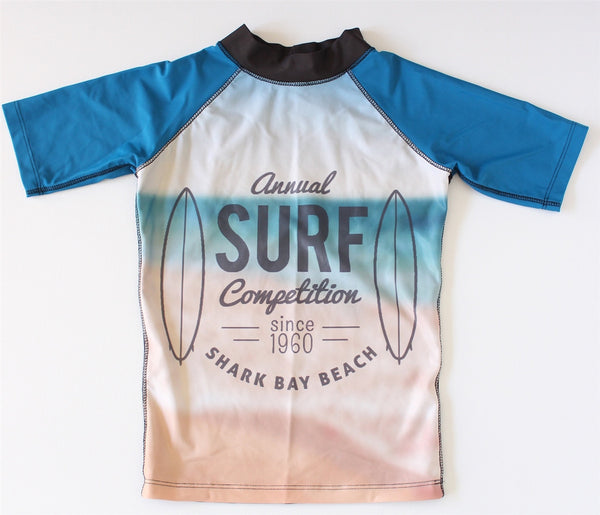 Young Squad Boys Surfing Safari Rash Shirt - FreeStyle Swimwear