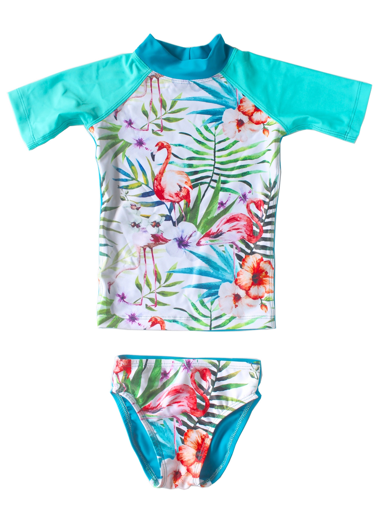 Young Squad Girls Tropical Rash Set - FreeStyle Swimwear