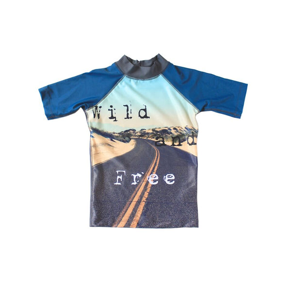 Young Squad Boys Wild & Free Rash Shirt - FreeStyle Swimwear