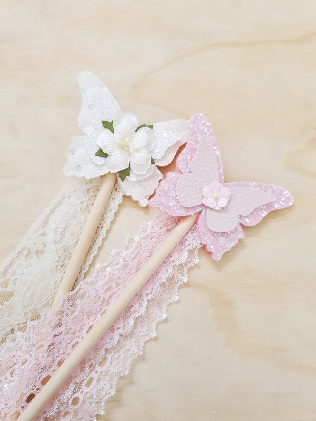 Butterfly wands. CREAM & BLUSH