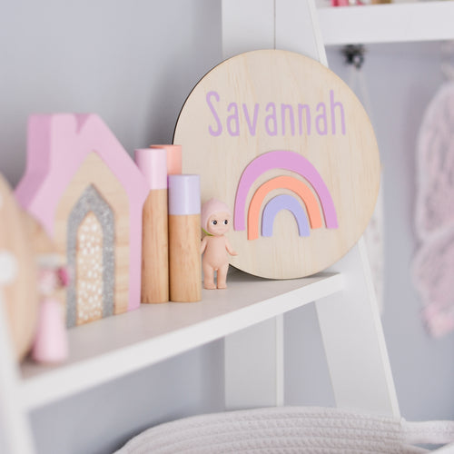 3D rainbow name plaque