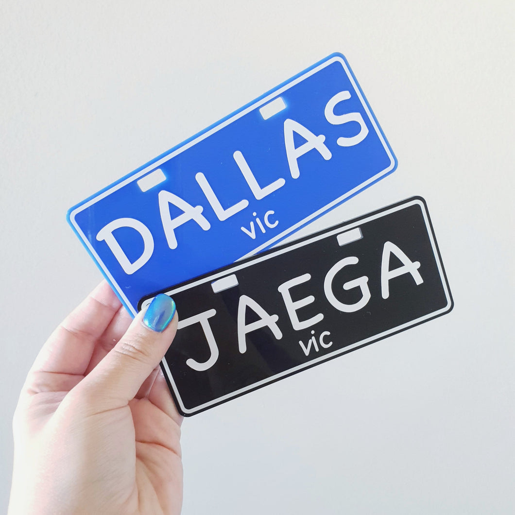 Personalised number plates. (FREE SHIPPING)