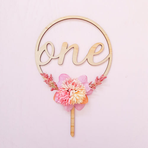 Cake topper. ONE.