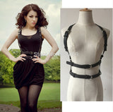 Waist Belt Womens Belt Fashion Punk Harajuku Faux Leather Body Bondage Cage Scul