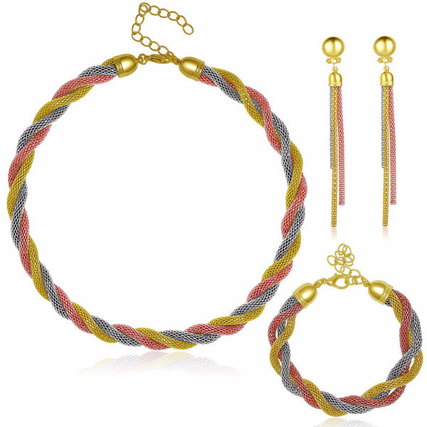 African beads for jewelry sets women imitated crystal necklace earrings 3 color gold plated pendant wedding b35db62a c605 4567 9375 e87a767bb678 grande