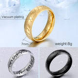 Stainless Steel Lord of the Rings Rings for Men Rings for Women Fashion Jewelry