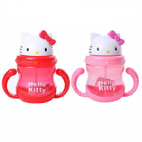 Hello Kitty Baby Bottle Sippy Cup With Handles Baby Cup Toddlers Sippy Cup Straw