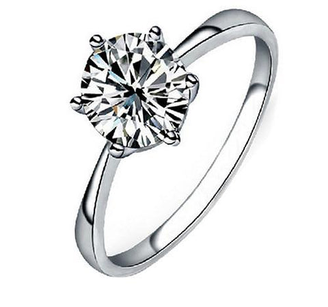 Solitaire Cubic Zirconia Rings Promise Rings Rings for Women Fashion Jewelry